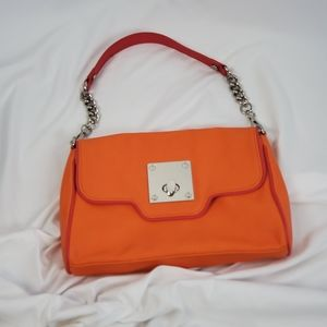 Kate Landry shoulder bag NWOT orange&pink leather